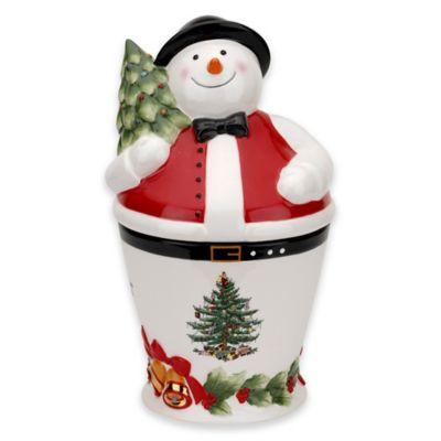 Spode® Christmas Tree Mr. Snowman Cookie Jar