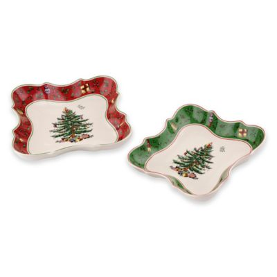 Spode® Christmas Tree Vintage Devonia Dishes (Set of 2)