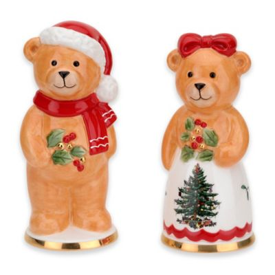 Spode® Christmas Tree Teddy Bear Salt and Pepper Shakers