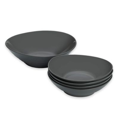 Mikasa® Swirl 5-Piece Pasta Set in Graphite
