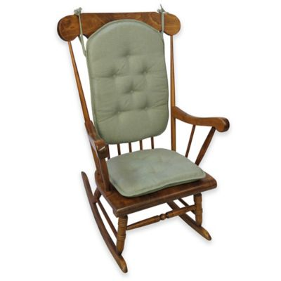 Klear Vu Saturn 2-Piece Rocking Chair Pad Set in Sage