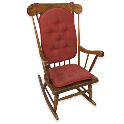 Klear Vu Saturn 2-Piece Rocking Chair Pad Set in Brick Red