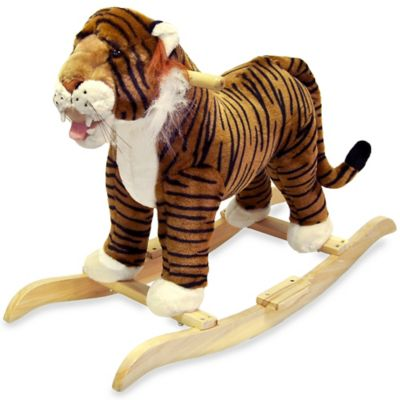 Happy Trails Plush Rocking Tiger - from Trademark Games