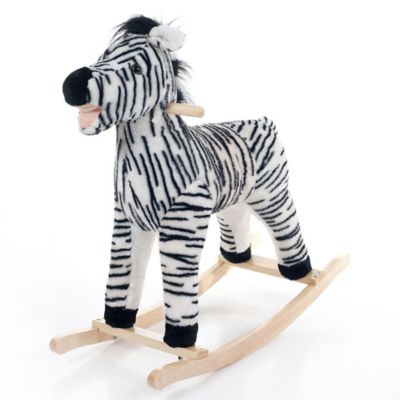 Happy Trails Plush Rocking Zebra - from Trademark Games