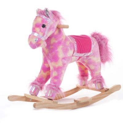 Happy Trails Pink Plush Rocking Pony - from Trademark Games