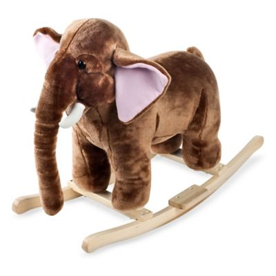 Happy Trails Plush Rocking Mo Mammoth with Sounds - from Trademark Games