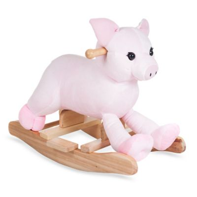Happy Trails Plush Rocking Hamlet Pig - from Trademark Games