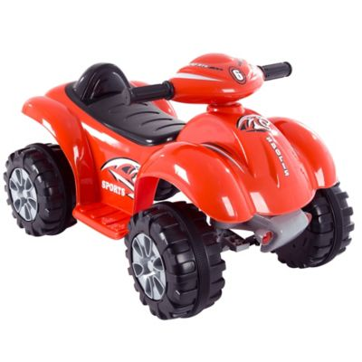 Lil' Rider Red Raptor Battery-Powered 4-Wheeler