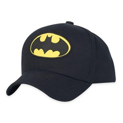 Batman Logo Baseball Cap in Black