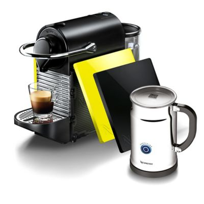 Nespresso® Pixie Clips Espresso Machine in Black and Lemon Neon