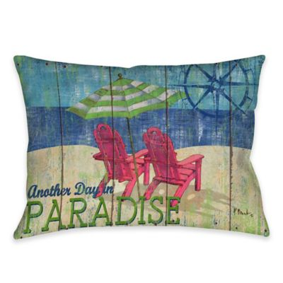 Another Day in Paradise Indoor/Outdoor Throw Pillow
