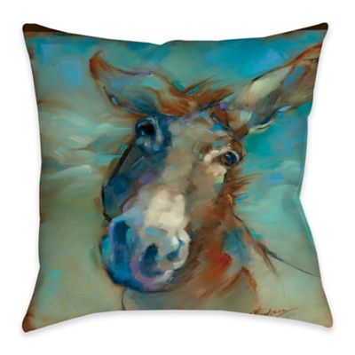 Here I am Indoor/Outdoor Throw Pillow
