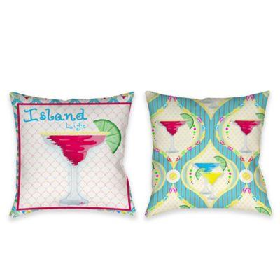 Margarita Island Life Indoor/Outdoor Throw Pillow