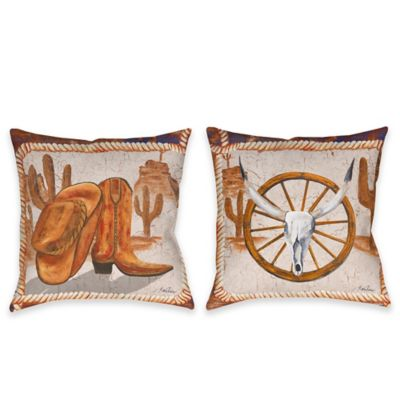 Western Icons Indoor/Outdoor Throw Pillow