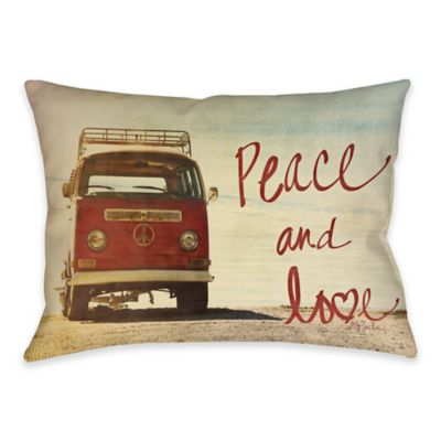 Peace & Love Indoor/Outdoor Throw Pillow