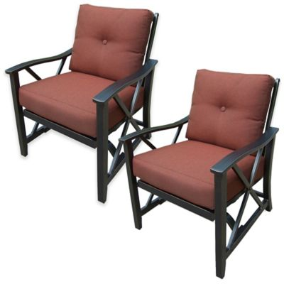 Oakland Living Rocking Chairs with Cushions in Antique Bronze (Set of 2)