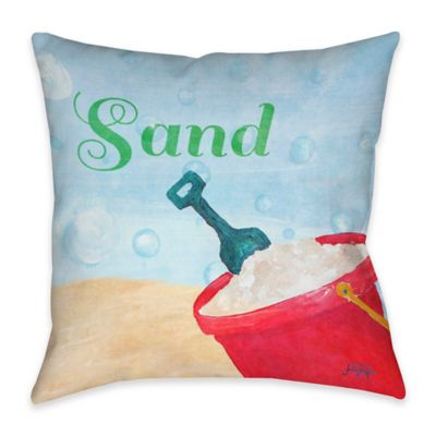 Beach Play IV Indoor/Outdoor Throw Pillow
