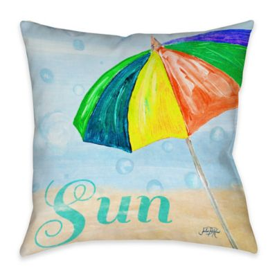 Beach Play I Indoor/Outdoor Throw Pillow
