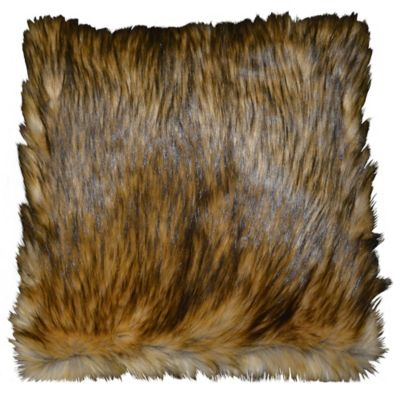 Juneau Square Throw Pillow in Gold