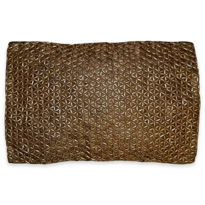 Hexi Oblong Pillow in Gold