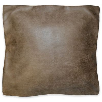 Harmony Square Throw Pillow in Hickory