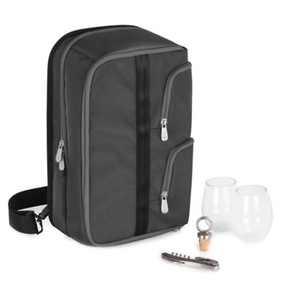 Picnic Time® Tiburon Wine Tote in Black