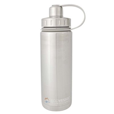 Eco Vessel® BOULDER 20 oz. Insulated Stainless Steel Water Bottle in White