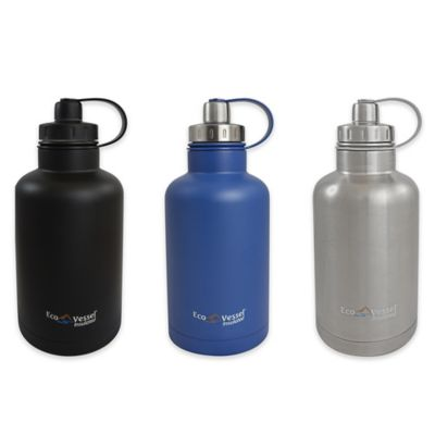 Eco Vessel® BOSS 64 oz. Insulated Stainless Steel Growler with Infuser in Silver