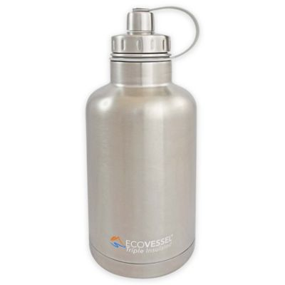 Eco Vessel® BOSS 64 oz. Insulated Stainless Steel Water Bottle with Infuser in Silver