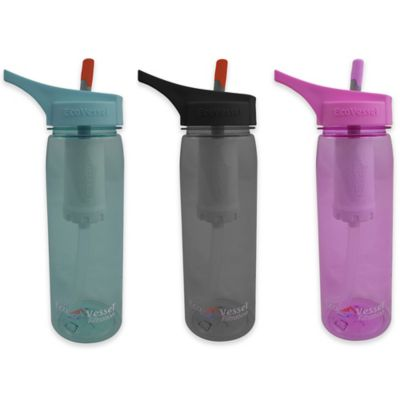 Eco Vessel® ULTRA LITE 25 oz. Water Filtration Bottle in Black