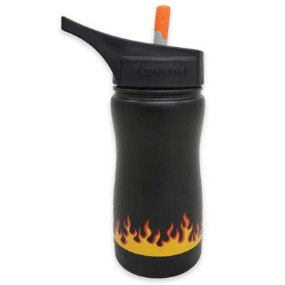 Eco Vessel® FROST 13 oz. Insulated Kids Straw Top Water Bottle in Black