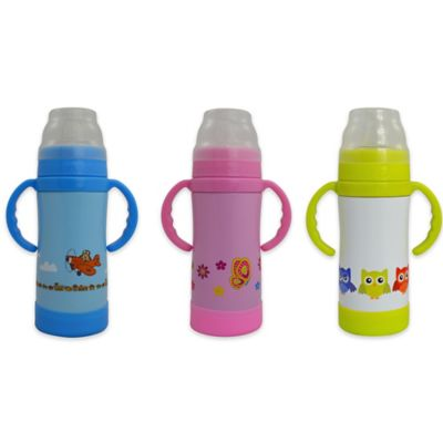 Eco Vessel® SIPPY 10 oz. Insulated Stainless Steel Sippy Bottle in White