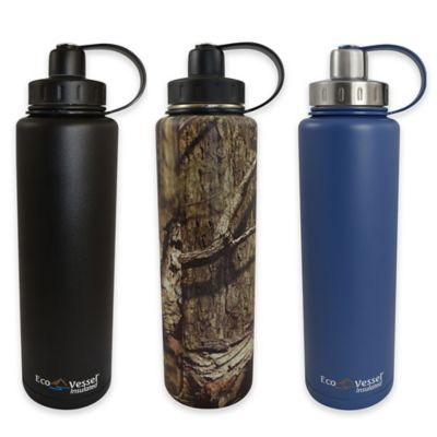 Eco Vessel BIGFOOT 45 oz. Insulated Stainless Steel Bottle in Black
