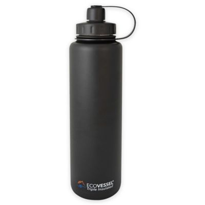 Eco Vessel® BIGFOOT 45 oz. Insulated Stainless Steel Water Bottle in Black