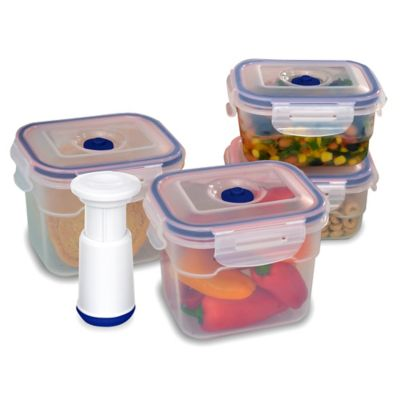 Lasting Freshness™ 9-Piece Vacuum Food Storage Set