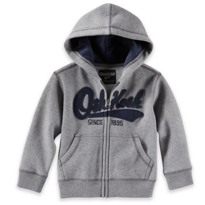"OshKosh B'gosh® Size 4T Vintage ""OshKosh Since 1895"" Hooded Jacket in Grey"