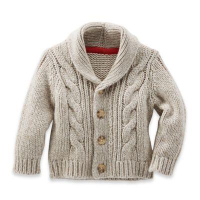 OshKosh B'gosh® Size 18M Cable-Knit Shawl Collar Cardigan in Ivory