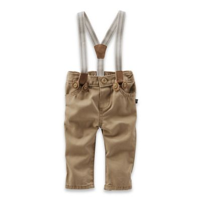 OshKosh B'gosh® Size 6M 2-Piece Pant and Suspenders Set in Khaki