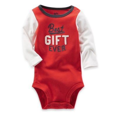 "OshKosh B'gosh® Size 3M ""Best Gift Ever"" Bodysuit in Red/White"