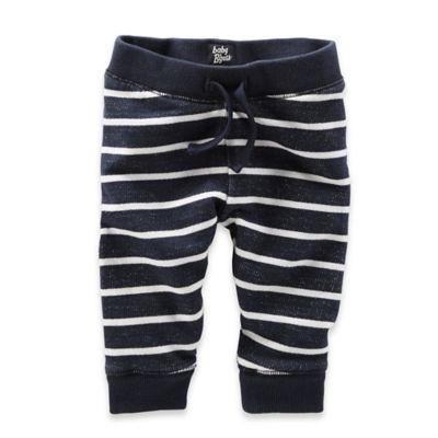 OshKosh B'gosh® Size 3M Striped French Terry Jogger Pant in Navy