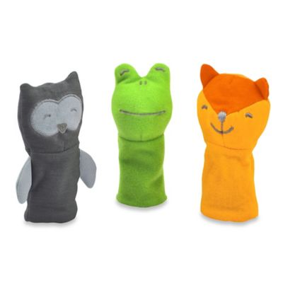 green sprouts® by i play.® 3-Pack Fox, Owl, and Frog Finger Puppets
