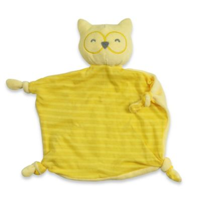 green sprouts® by i play.® Dream Window Cotton Owl Blankie in Yellow