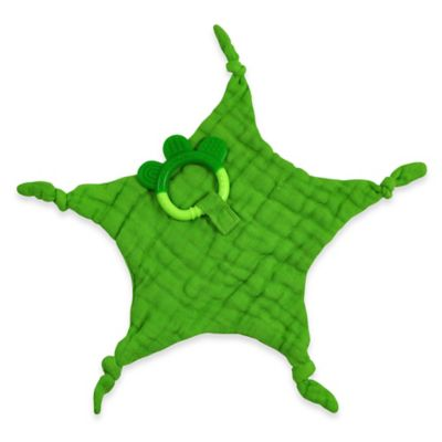 green sprouts® by i play.® Dream Window Muslin Blankie Teether in Green
