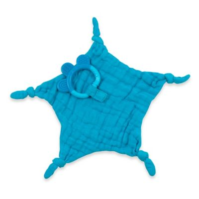 green sprouts® by i play.® Dream Window Muslin Blankie Teether in Aqua