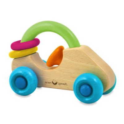 green sprouts® by i play.® Wooden Car Rattle