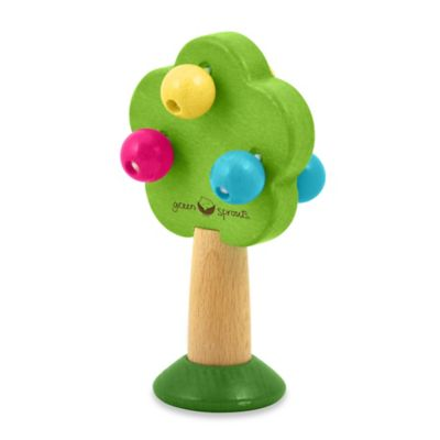 green sprouts® by i play.® Wooden Tree Rattle