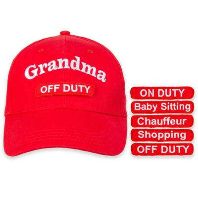 countdowncaps™ 5-in-1 Grandma Cap in Red/White
