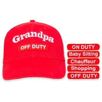 countdowncaps™ 5-in-1 Grandpa Cap in Red/White