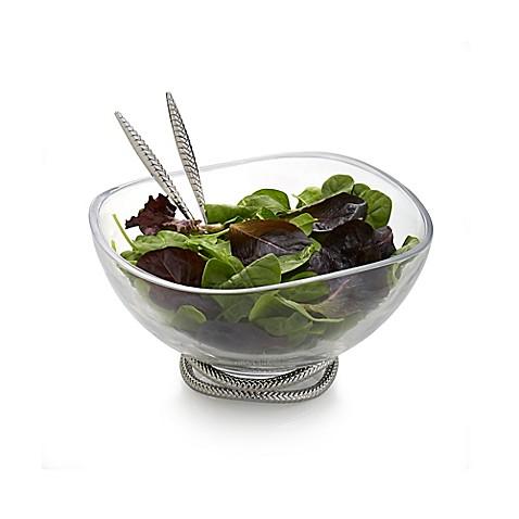 Nambe Braid Glass Salad Bowl With Servers Bed Bath Amp Beyond