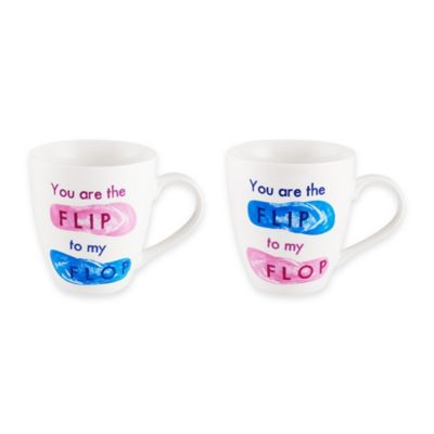 "Pfaltzgraff® ""You are the Flip to My Flop"" Mugs (Set of 2)"